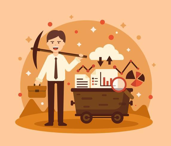 employee-data-mining-illustration-vector
